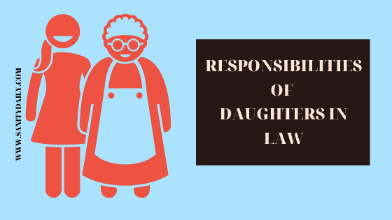 Responsibilities of daughters in law