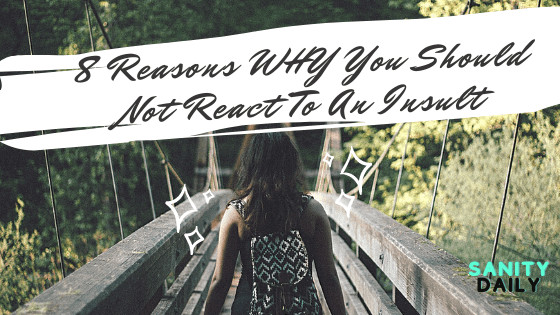 8 Reasons WHY You Should Not React To An Insult