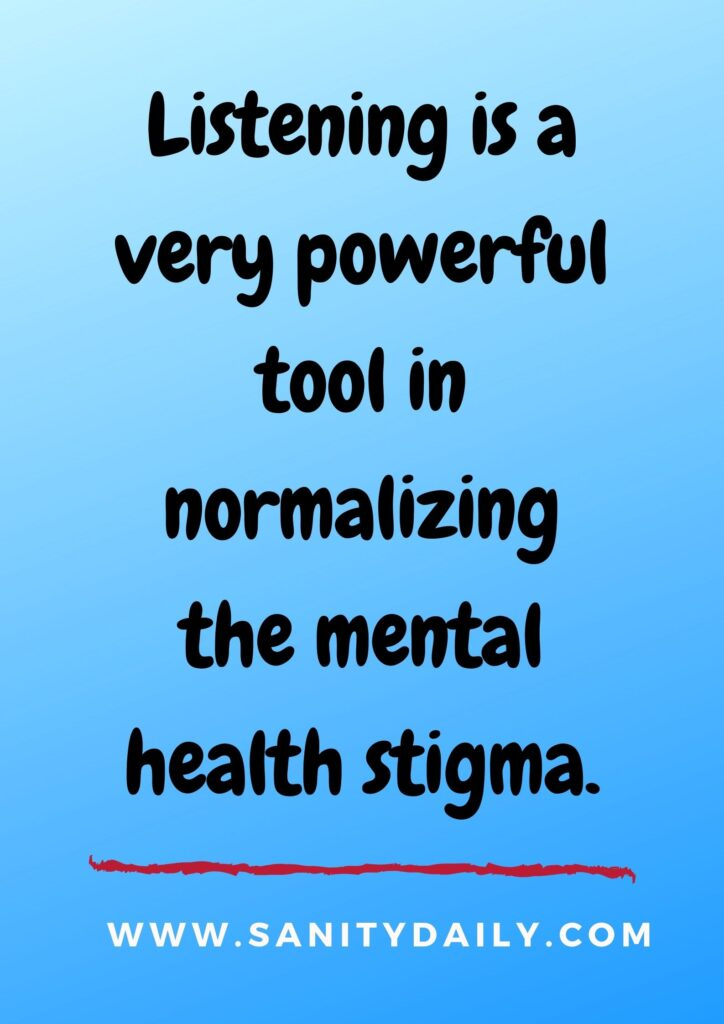 normalize mental health issues